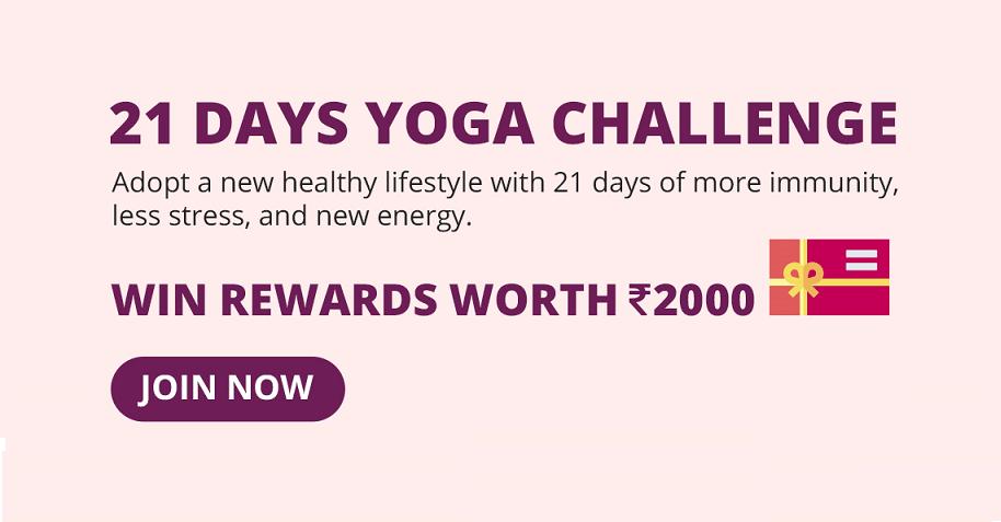 21 Days Yoga Challenge on The Wellness Corner App